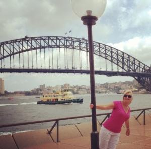 My beautiful wife Lenore enjoying Sydney in the Australian sunshine