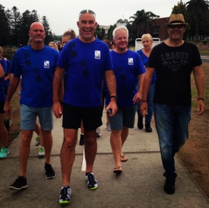 Walking with great mates to help raise awareness and funds for MND research.